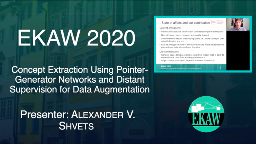 D1S3 – Concept Extraction Using Pointer-Generator Networks and Distant Supervision for Data Augmentation – Shvets Alexander V.