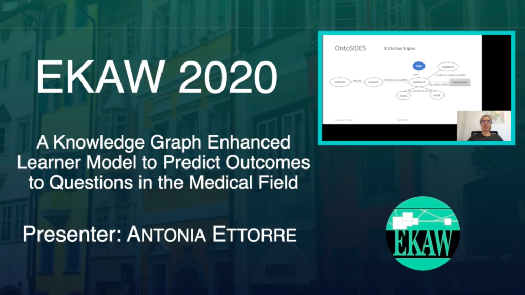 D1S3 – A Knowledge Graph Enhanced Learner Model to Predict Outcomes to Questions in the Medical Field – Antonia Ettore