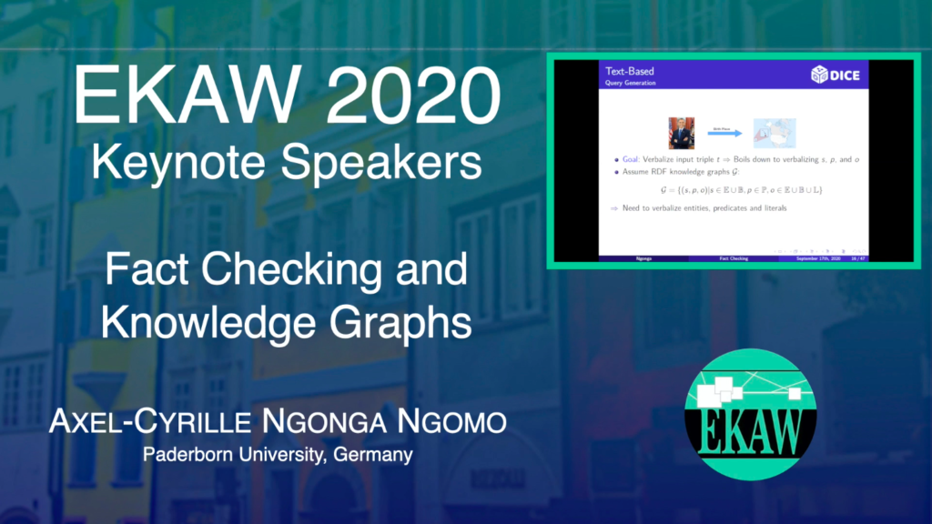 Fact Checking and Knowledge Graphs – Axel-Cyrille Ngonga Ngomo