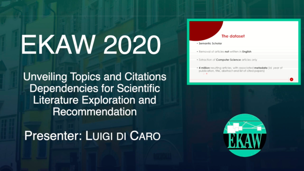 D2S6 – What2Cite: Unveiling Topics and Citations Dependencies for Scientific Literature Exploration and Recommendation – Luigi Di Caro