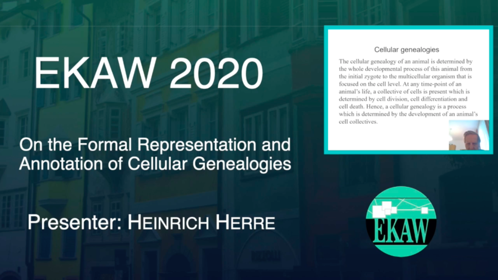 D1S2- On the Formal Representation and Annotation of Cellular Genealogies- Heinrich Herre