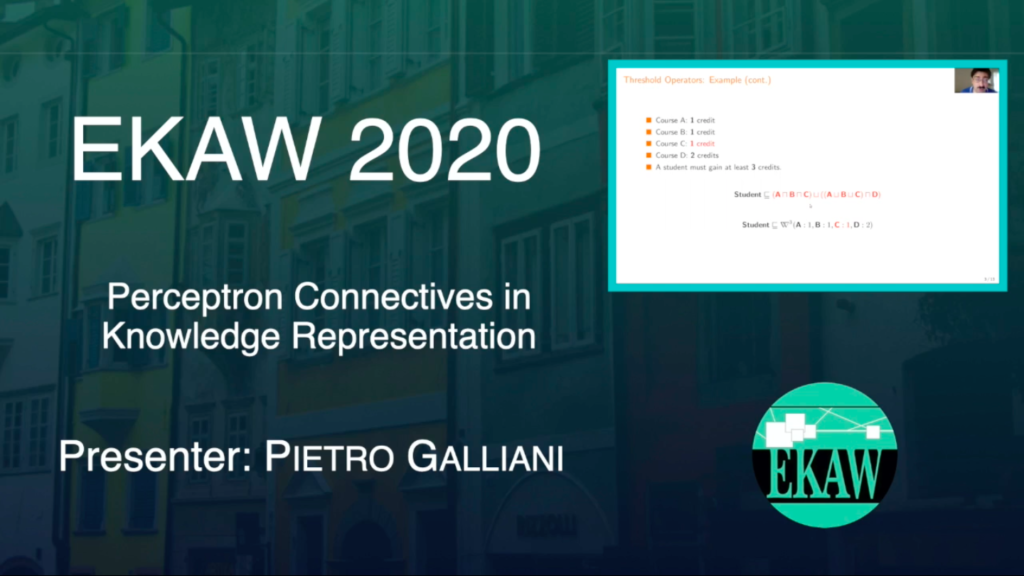 D1S2 – Perceptron Connectives in Knowledge Representation – Pietro Galliani