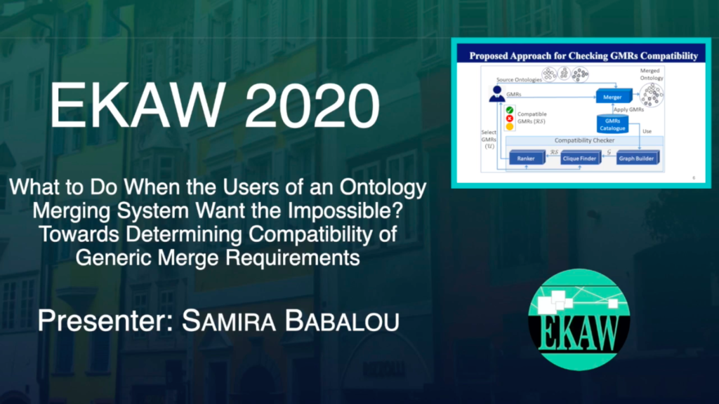 D1S1- What To Do When the Users of an Ontology Merging System Want the Impossible? Towards Determing Compatibility of Generic Merge Requirements- Samira Babalou