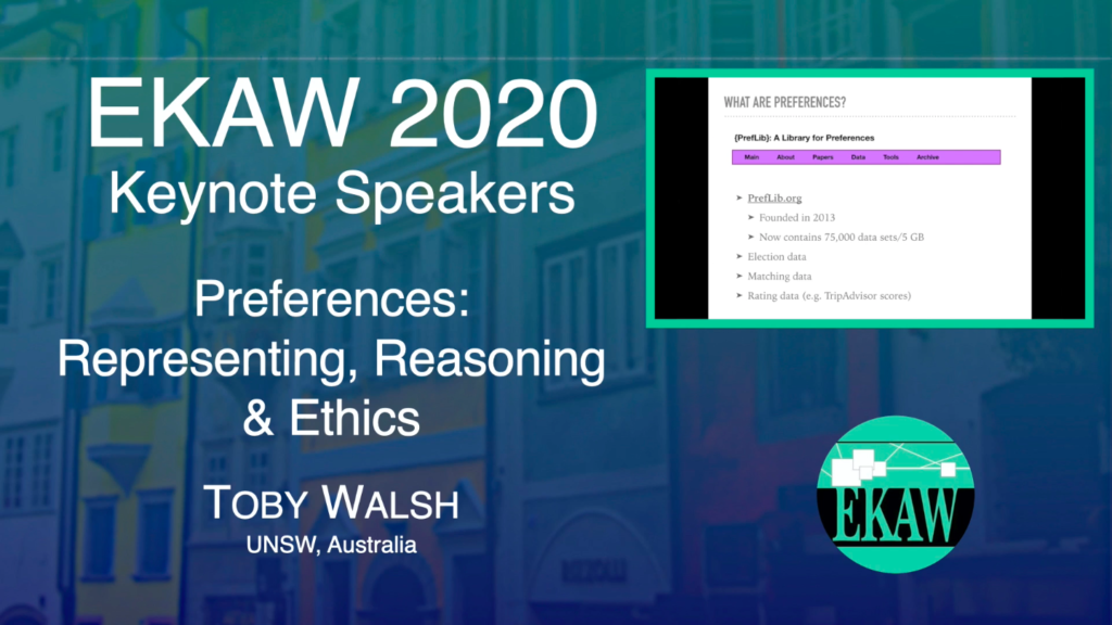 Preferences: Representing, Reasoning & Ethics – Toby Walsh